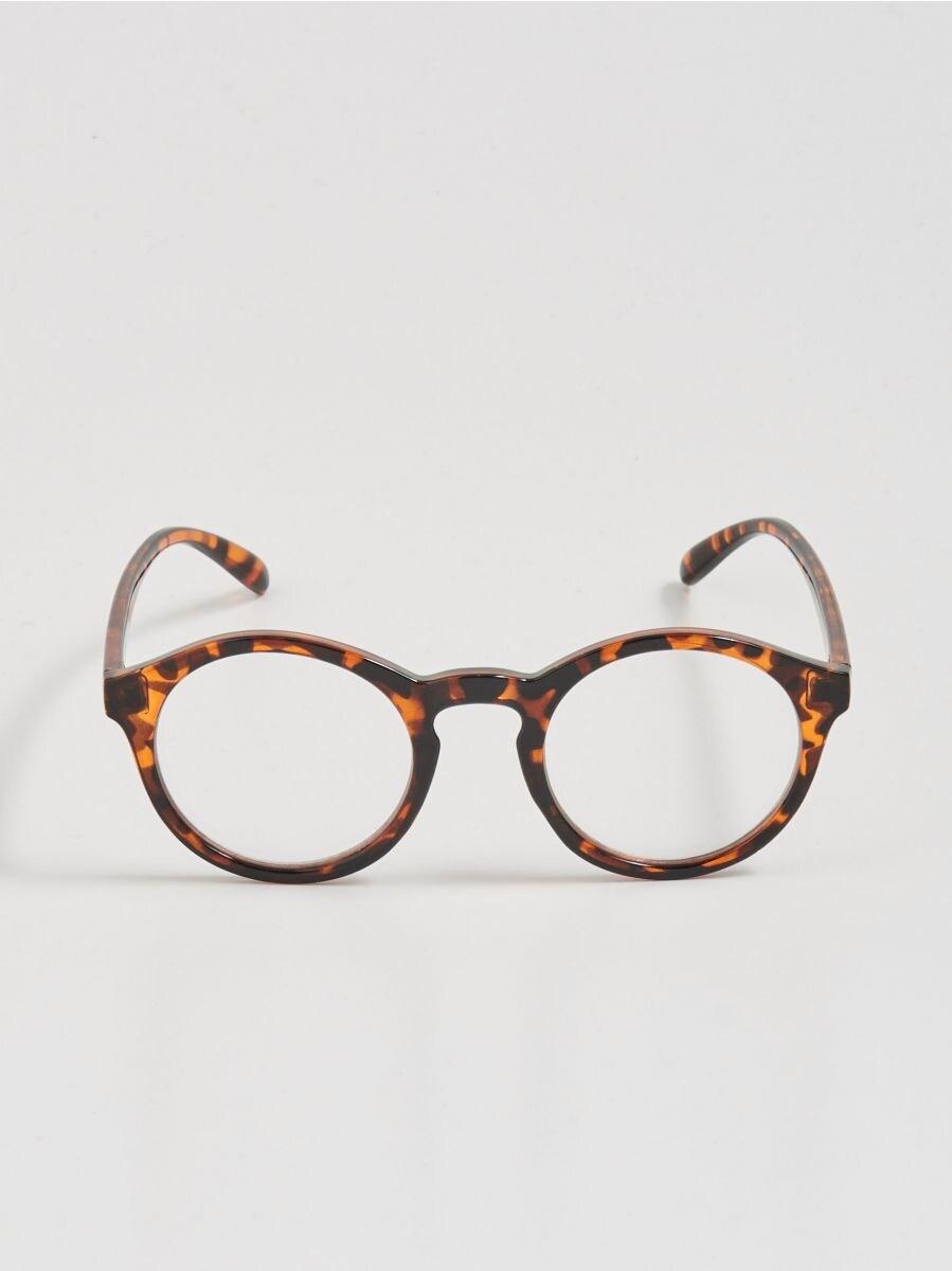 4e9ab789b11 Mustrilised nullklaasidega prillid - pruun - WS040-88X - SINSAY - 1
