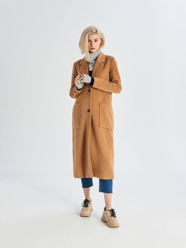 8297b0ba3a8 Однобортное пальто · Длинное пальто - Бежевый - VB296-08X - SINSAY